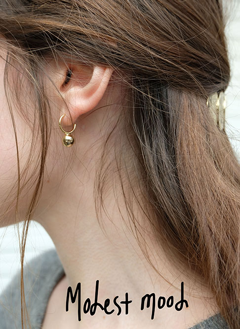 Goldball Earring