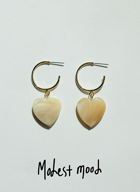 New Heart Pearl Earring