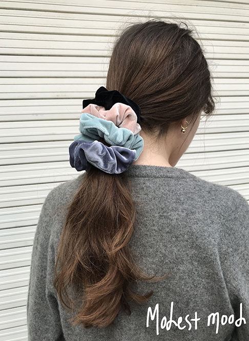 Velvet Scrunchies [ 4 color ] 10/18일 배송가능 !
