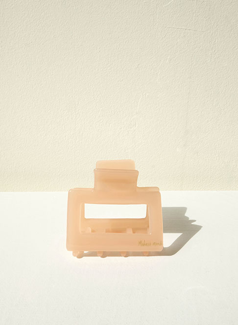 Square Barrette ˚peach