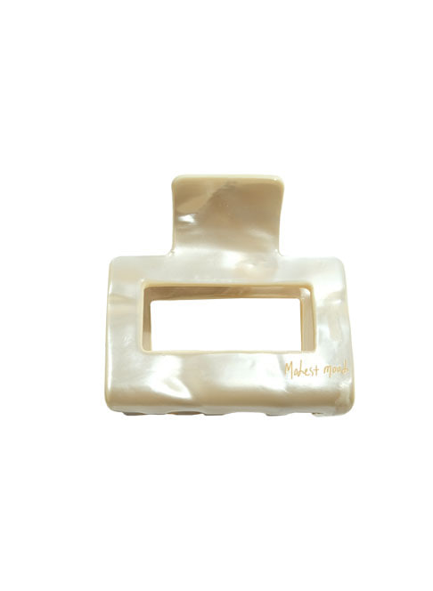 Square Barrette ˚cream